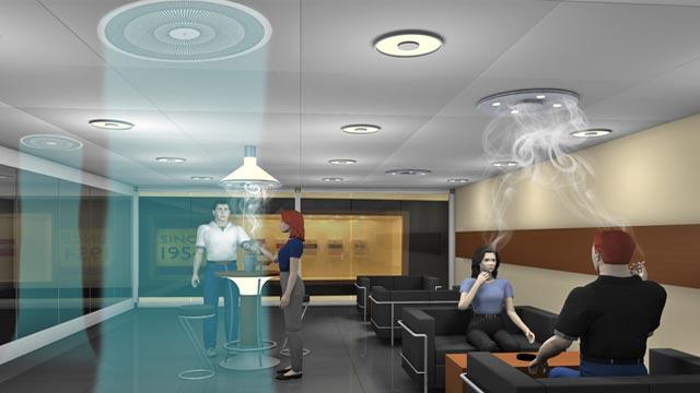 l ftungsanlage raucherraum klimaanlage und heizung zu hause. Black Bedroom Furniture Sets. Home Design Ideas